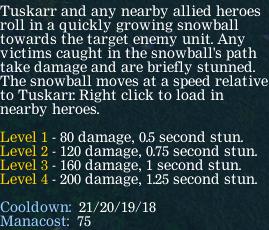 Описание 2 скилла Snowball Туска